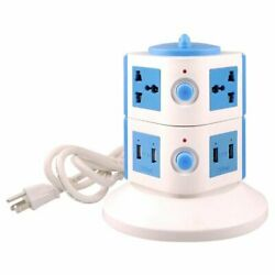 Yubi Power Universal Power Tower 4 Outlets and 8 USB With Surge Protector