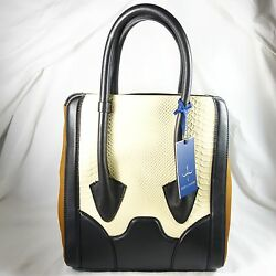 Pour La Victoire Butler Large Tote Purse Handbag Bone MINT  $495 Retail