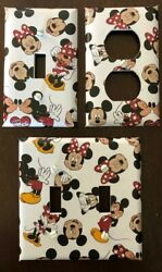 Mickey Mouse Light Switch Cover Plates Disney Minnie Outlets Kids Room Nursery $7.25