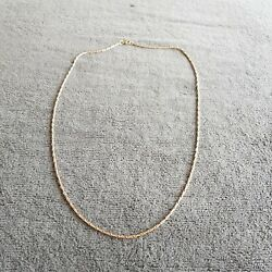 9 CT YELLOW GOLD FANCY LINK CHAIN.
