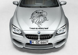 TRIBAL EAGLE HEAD COUNTRY CAR TRUCK DECAL GRAPHIC VINYL HOOD SIDE