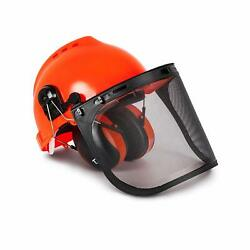 Safety Helmet Earmuffs Industrial Forestry Hard Hat wHearing Protection