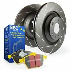 EBC Brakes S9KF1077 Front Yellowstuff Brake Pad and USR Rotor Kit - 13.7