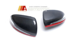 Replacement Carbon Fiber Side Mirror LED Covers Red for Mercedes W205 W213 W222