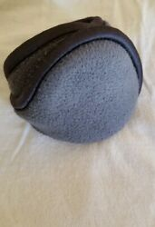 Degrees By 180s Grey and Black Soft Adjustable Ear Warmers Ear Muffs Adult