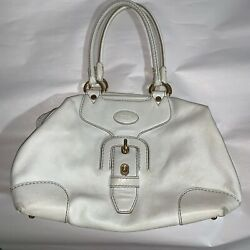 pre loved authentic Bone White Leather TOD#x27;s Satchel SHOULDERBAG $1350 $319.99