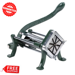 8 Wedge Green Countertop Cast Iron Potato French Fry Cutter Slicer Restaurant $65.85