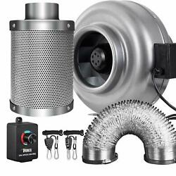 iPower 468 Inch Inline Fan Carbon Filter Ducting Combo w Speed Controller
