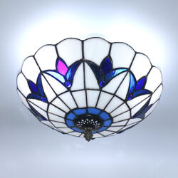 12quot; Tiffany Style Ceiling Lamp Vintage Industrial Metal Hanging Pendant Light $43.99
