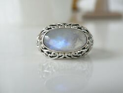Nicky Butler India Sterling Silver 925 Vintage Style Filigree Moonstone Ring 9