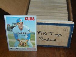 OLD 1970 Topps Baseball Card Set Lot (YOU PICK 5) NICE Ex+ Fill Your Set Today