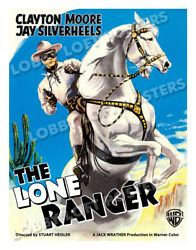 THE LONE RANGER LOBBY CARD POSTER OSGER 1956 CLAYTON MOORE JAY SILVERHEELS