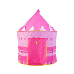 PORTABLE FOLDING BLUE PLAY TENT CHILDRENS KIDS CASTLE CUBBY PLAY HOUSE NEW GIFT