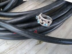Nicky Butler Band Ring - 3 Star shapes with Swiss Blue Topaz gemstones