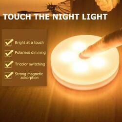 5LED Touch Control Light Dimmable Bedroom Bedside Night Lamp Cabinet Light Decor $7.98