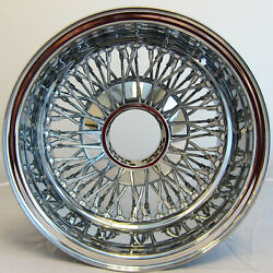 NB 13x7 REV 72 SPOKE WIRE WHEELS CROSS LACE ALL CHROME RIMS  LOWRIDER X1 R $249.99