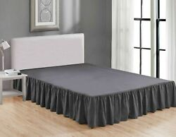 Super Soft Solid Brushed Microfiber 14quot; Gathered Bed Skirt Dust Ruffle $15.99