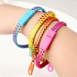 RA_ FT- Colorful Zipper Style Bracelet Men Women Creative Hand Chain Jewelry C