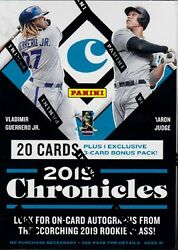 2019 Panini Chronicles Baseball sealed blaster box 5 packs of 4 cards
