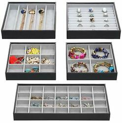Set of 5 Magic Stackable Jewelry Trays Closet Dresser Drawer Organizer for Acce