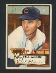 1952 Topps #127 Paul Minner VGEX RC Rookie Cubs 108526