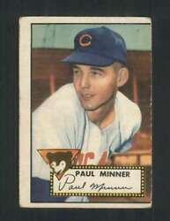 1952 Topps #127 Paul Minner VGVGEX RC Rookie Cubs 108527
