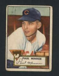 1952 Topps #127 Paul Minner VGVGEX RC Rookie Cubs 108528