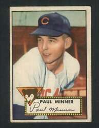 1952 Topps #127 Paul Minner VGEX RC Rookie Cubs 108530