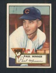 1952 Topps #127 Paul Minner VGEX RC Rookie Cubs 109159