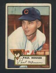 1952 Topps #127 Paul Minner VGVGEX RC Rookie Cubs 109338