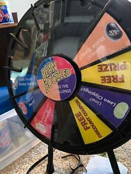 Prize Wheel floor table stand and insert your paper graphics amp; logo $240.00