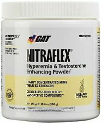 GAT NITRAFLEX Powerful Pre-Workout Testosterone Booster 30 Serving pina colada