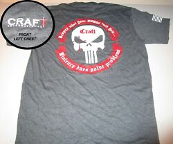 Craft International Punisher Next Level Brand TShirt Charcoal Color with Sticker