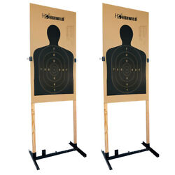 Adjustable Target Stand for Paper Silhouette Shooting Targets H Shape 2 Pack $49.99
