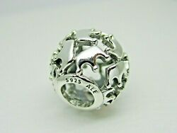 Authentic Pandora #798354 Sterling Silver Queen and Regal Crowns Charm