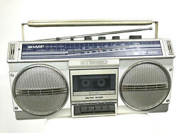 Vintage Sharp Boombox Stereo Radio Works GF-434 1980s 80s Retro Flaw Read*