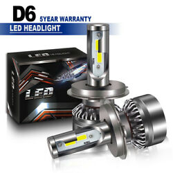 Pair H4 LED Bulb Replacement HID HiLow Beam DOT Headlight 6000K High Power LX
