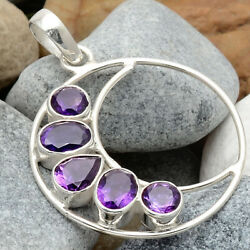 Natural Amethyst - Africa 925 Sterling Silver Pendant Jewelry DGP1001_G