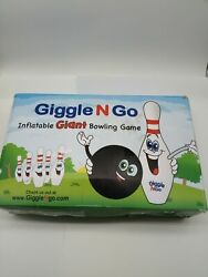 GIGGLE N GO Inflatable Bowling Pins - Giant Outdoor Games for Kids and Family