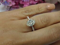 1.50Ct Oval-Cut Enhanced SI1 Diamond Solitaire Engagement Rings 18K Yellow Gold