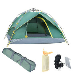 Waterproof 4 Person Hydraulic Instant Self Pop Up Automatic Family Camping Tent
