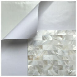 Peel and Stick Mother of Pearl Shell Mosaic Tile for Kitchen BacksplashesWhite