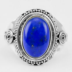 Lapis Lazuli - Afghanistan 925 Sterling Silver Ring Jewelry s.8.5 SDR29150