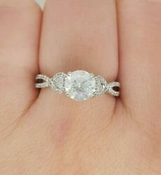 Diamond Engagement Ring: 14ct White Gold 1 RBC Centre 2 Pear Preloved  VAL$9900