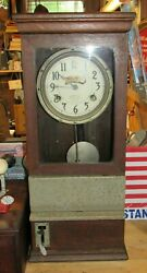 Antique 1920's IBM International Time Recording Office Factory Time Punch Clock