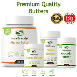 Organic Raw Butter - PREMIUM QUALITY 100% Pure Skin Face Body Hair Unrefined NEW $10.95