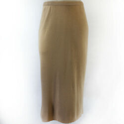 ADRIANNA PAPELL Sand Brown Skirt X Large $39.99