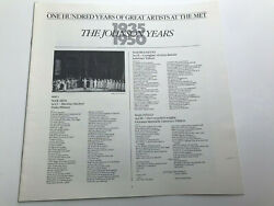 100 Years Great Artists at the Met The Johnson Years 1935 1950 Album Booklet  $12.39