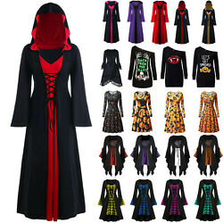 Women#x27;s Medieval Renaissance Fancy Dress Gothic Witch Halloween Cosplay Costume $16.09