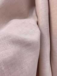 Light Pale Rose Medium Weight 100% Linen Fabric (60 in.) Sold By The Yard $12.99